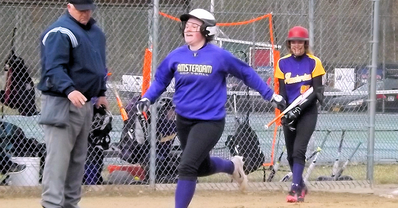 AHS softball team battles cold, defeats Gloversville
