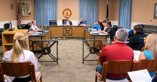 City and county officials discuss the Downtown Revitalization Initiative grant application progress