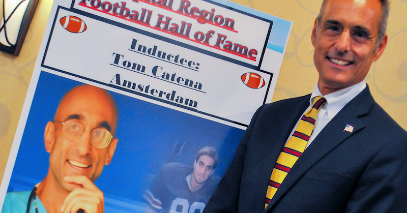 Tom Catena inducted into Capital Region Football Hall of Fame