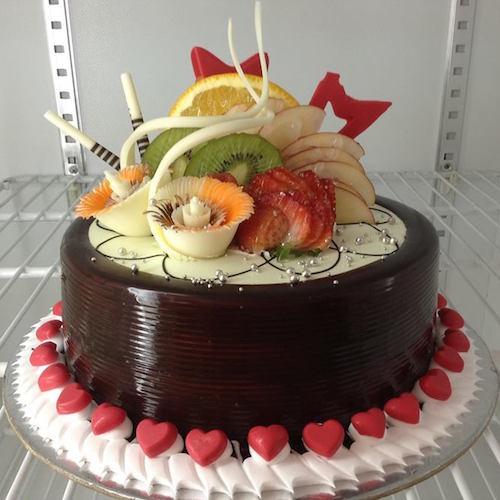 Prime Min 1 5Kg Chocolate Cake With Fruit Topping Skucak039 Online Birthday Cards Printable Nowaargucafe Filternl