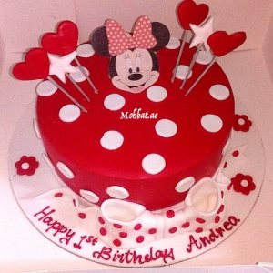 Pleasant Minnie Mouse Cakes 1St Birthday Online Gifts Delivery In Dubai Uae Funny Birthday Cards Online Unhofree Goldxyz
