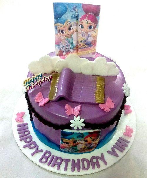 Shimmer & Shine Theme Cake Min 2Kg - SKUCAK20191