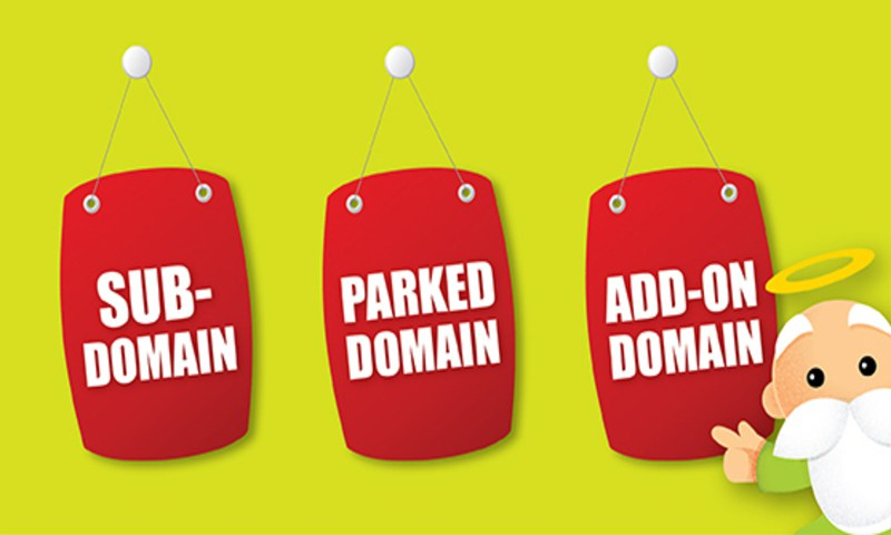 difference betweenParked domain, Addons and Subdomains