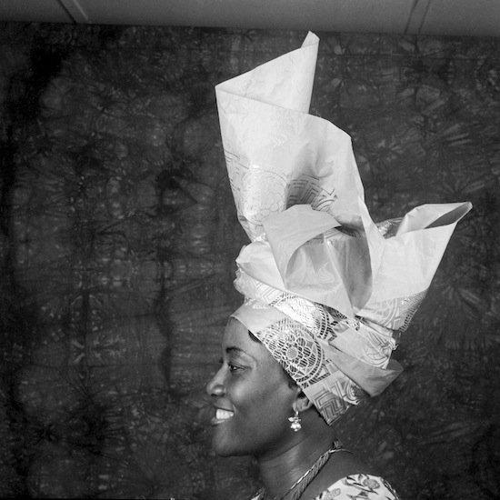 J.D. 'Okhai Ojeikere, Untitled, 2008, 50.8 x 50.8 cm. Courtesy of the Museum of African Diaspora.
