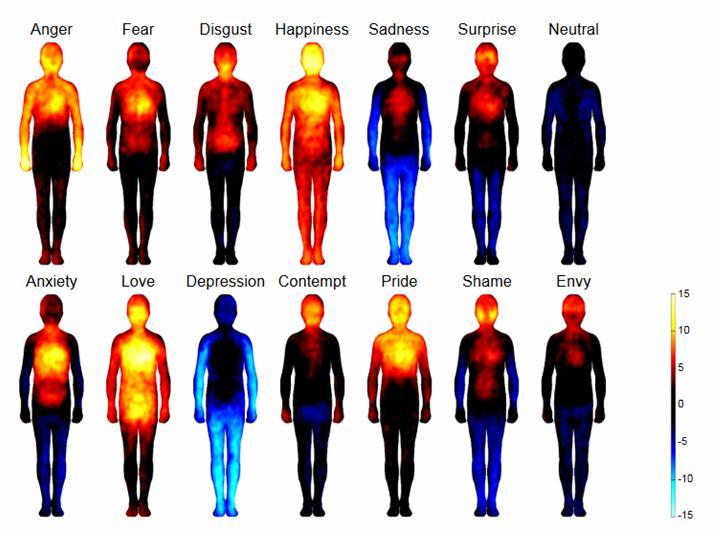 Localisation des motions dans le corps