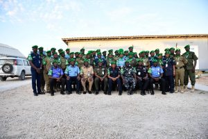 Newly deployed AMISOM police officers complete induction