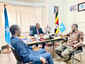 The Minister of Labor visits the Somali Embassy in Kampala