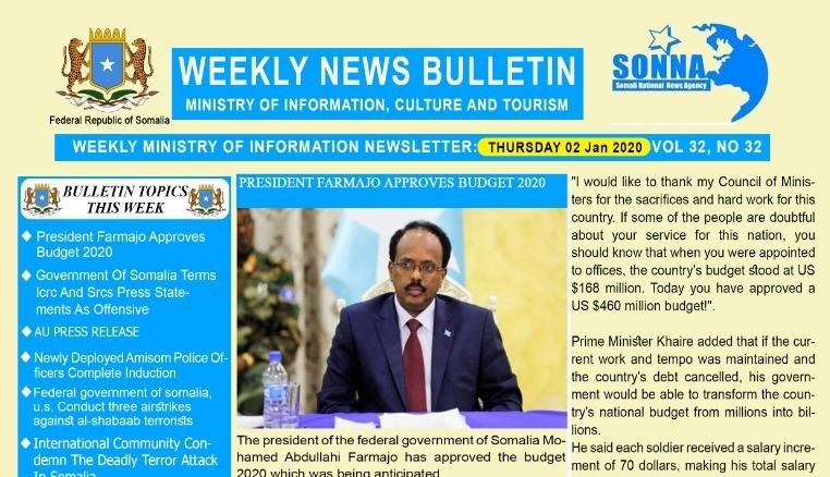 Weekly News Bulletin Vol 32