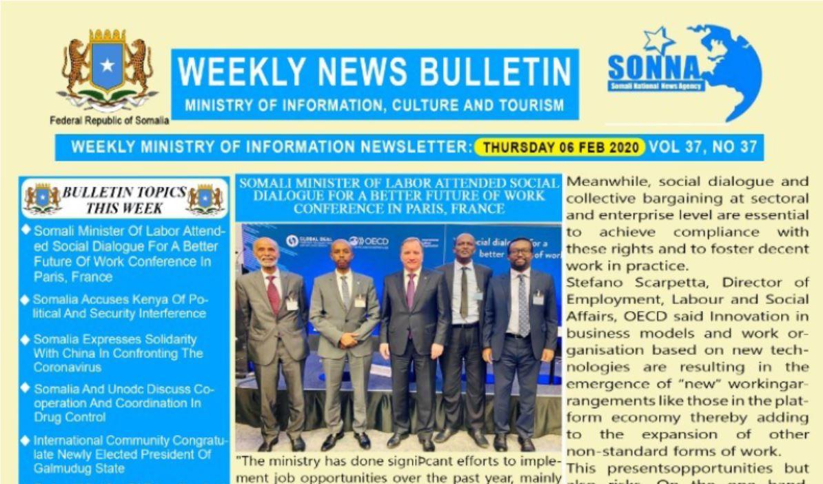 Weekly News Bulletin Vol 37