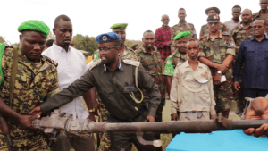 AMISOM donates office equipment to HirShabelle Police Force