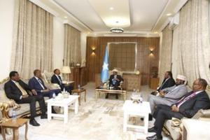 President Farmajo chairs a preliminary meeting with FMS Presidents