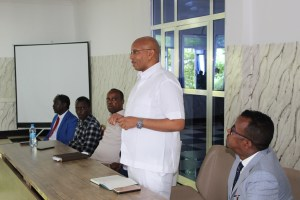 Minister of Information Culture and Tourism holds introductory meeting  with the staffs+pict