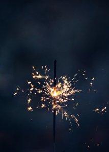 sparkler, sparkle, glow