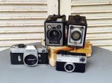 Some of our vintage cameras we rent out
