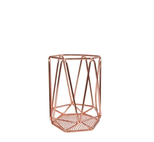 MD016 Copper geometric candle holder
