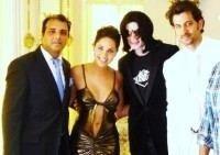 Hrithik Roshan, Barbara Mori with Michael Jackson