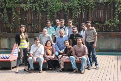 Udayan Prasad with Marten Rabarts and 12 participants