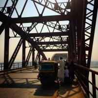Shadows bridging the Rajghat Bridge.