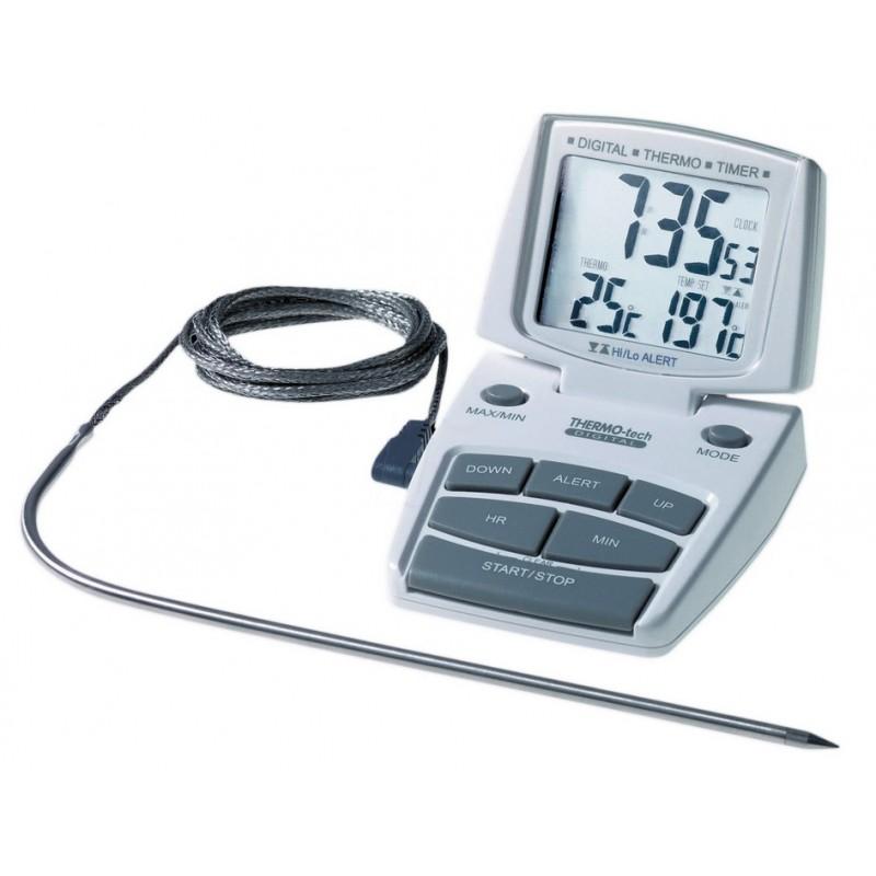 thermometre special four avec alarme et minuteur