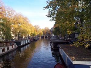 Un canal d'Amsterdam