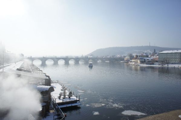 Die Karlsbrücke.