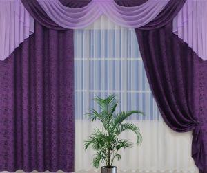 Cиреневые шторы — Оригинальный стиль в красивом интерьере! (75 фото)