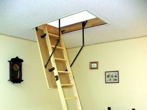 Чердачные лестницы с люком. Монтажный комплект для чердачной лестницы