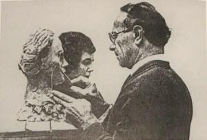 Moissey Kogan_sculpting a portrait head