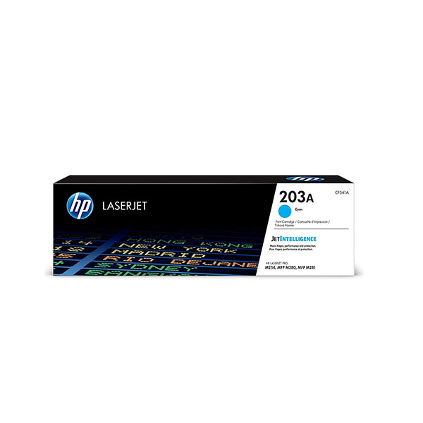 HP 203A Cyan Original LaserJet Toner Cartridge (CF541A),