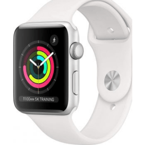 Apple Watch Series 3-42mm GPS Silver Aluminum Case With White Sport Band