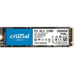 Crucial P2 2TB 3D NAND NVMe PCIe M.2 Internal SSD up to 2400MB/s