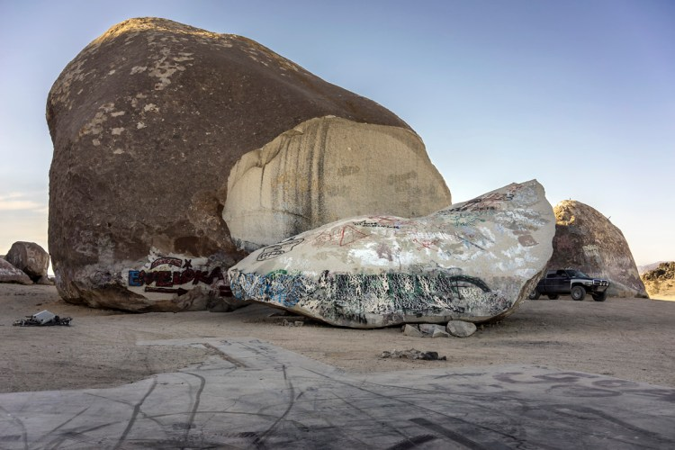 Giant Rock, Landers, CA in 2014. Photograph: Kim Stringfellow.