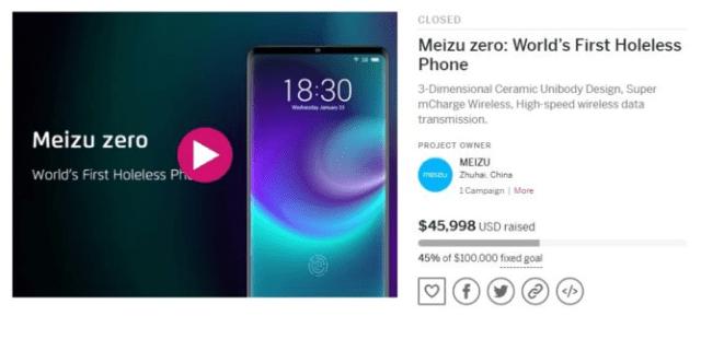 Meizu Zero kampaň