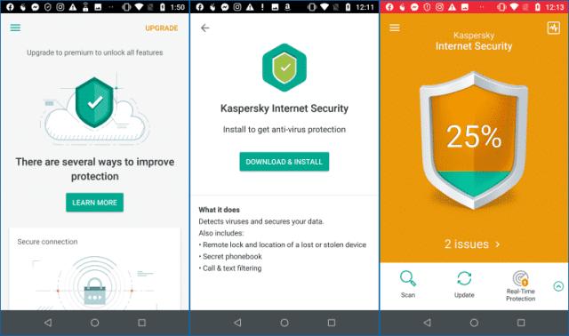 Antivirus Kaspersky pro Android