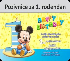 kategorija pozivnica za prvi rođendan