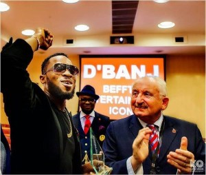 The Kokomaster! D'banj bags Another International Entertainment Award at The British House Of Parliament