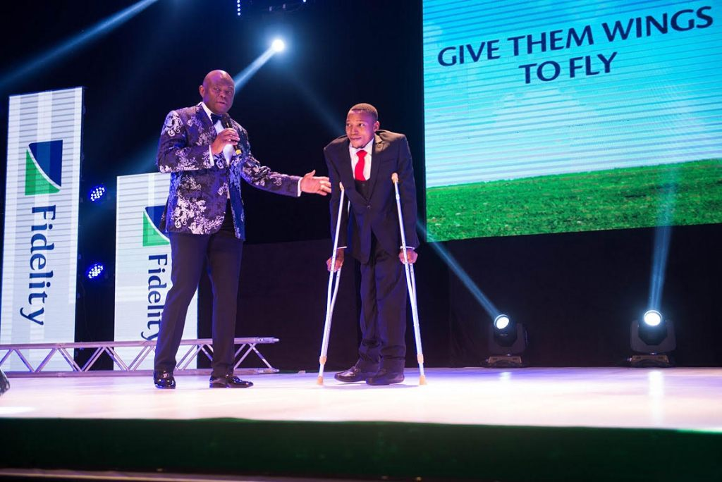 MD/CEO, Fidelity Bank PLC with the World's Greatest Maths Teacher Michael Sowunmi