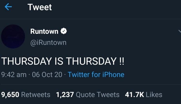Thursday is Thursday - Runtown