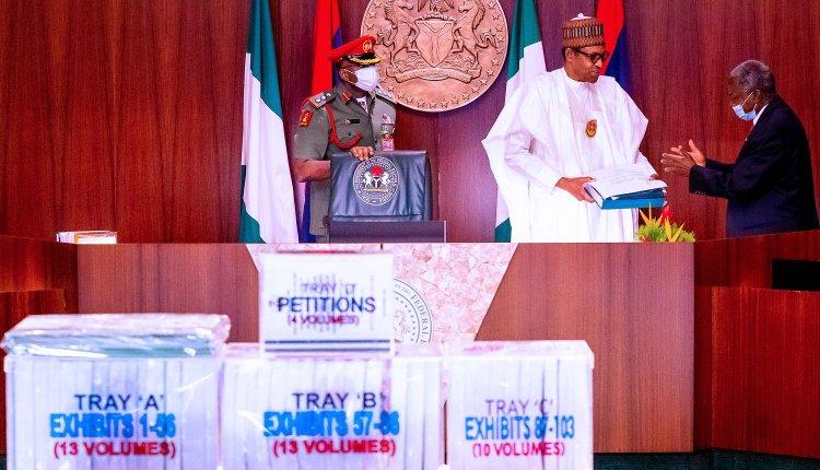 Buhari Receives Justice Salami Probe Panel Report On Magu