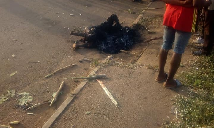 Mob Sets Man Ablaze In Benue For Allegedly Trying To Steal Motorcycle