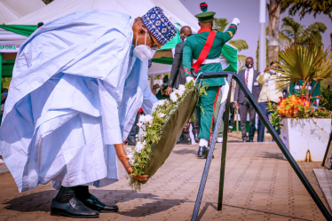Armed Forces Remembrance Day: Buhari, Osinbajo, Others Lay Wreaths To Honour Fallen Heroes