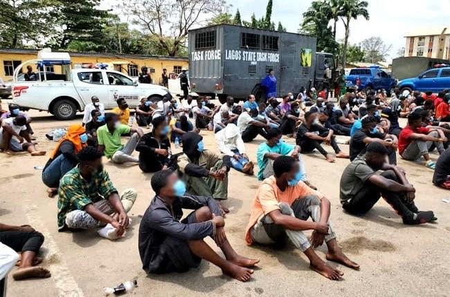 Lagos Police Command Arrest, Parade 113 COVID-19 Violators