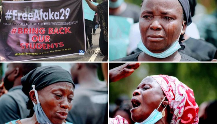 Kaduna: Mothers Of Abducted Afaka Student Protest At NASS