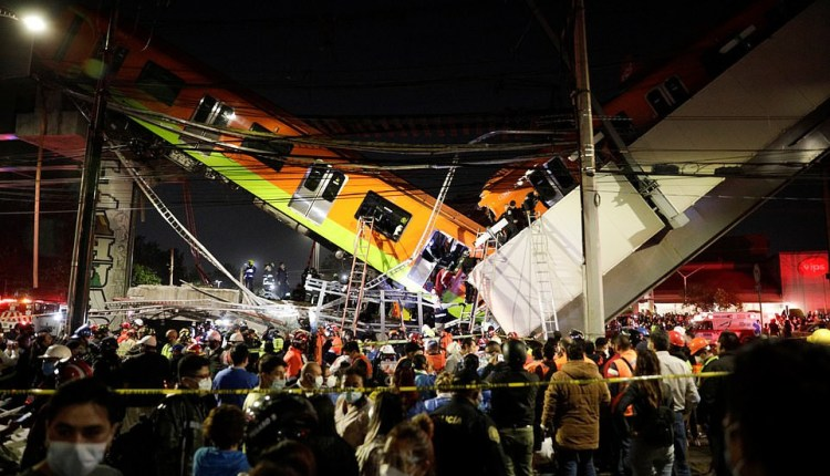 Overhead Train Collapses Onto Busy Road, Killing 19, Injuring 70 In Mexico
