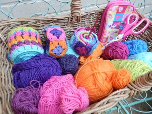 Mexican Blanket Basket