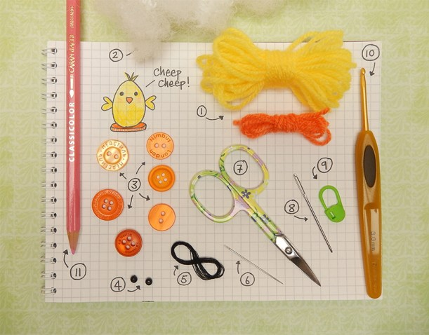 FreeTutorial -Tiny Chick by Moji-Moji Design