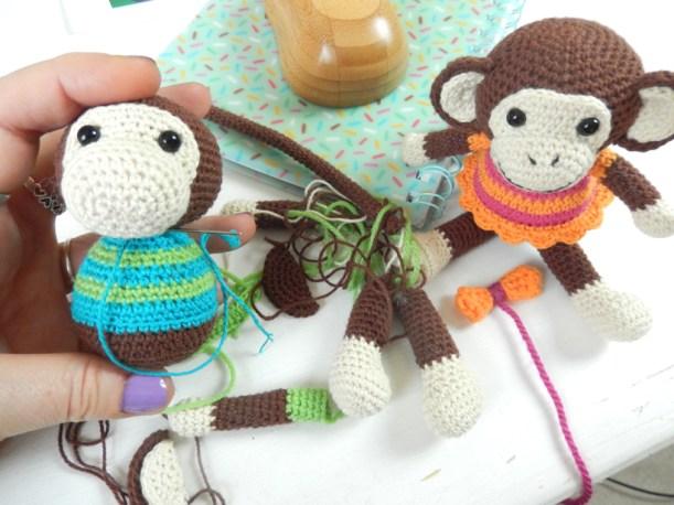 Handmade Pocket Sock Monkey Doll Amigurumi Mini Monkey | Etsy | 458x611