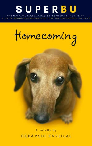 Face of a Puppy on the book cover of Superbu Homecoming by Debarshi Kanjilal