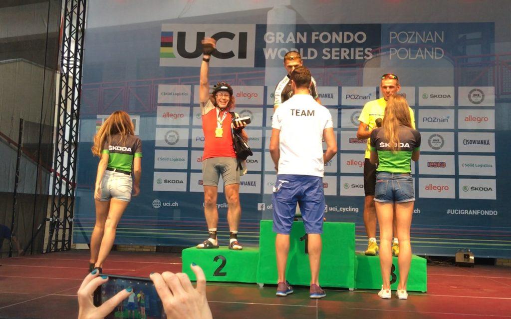 Jaromir na podium Bike Challenge