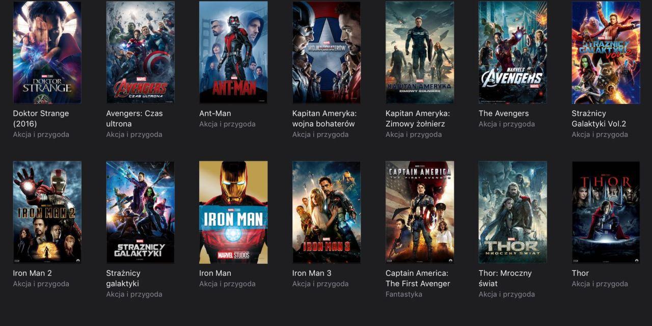 Promocja na filmy Marvel'a w iTunes